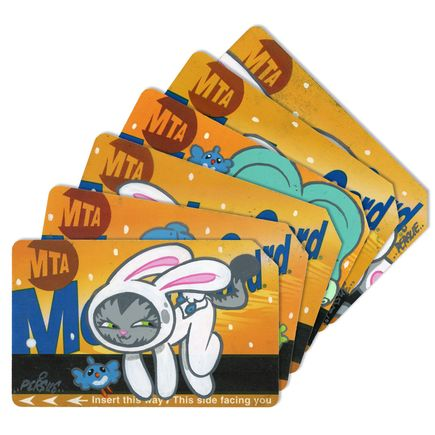 Bunny Kitty Art - MTA Card - 6 Card Set