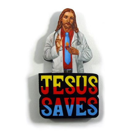 Peter Adamyan Original Art - Jesus Saved Me From Cancer - Original Painting