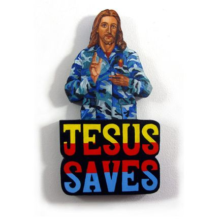 Peter Adamyan Original Art - Jesus Saved Me From Towel Heads - Original Painting
