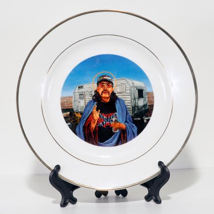 Peter Adamyan Art - Trailer Park Jesus - Porcelain Plate