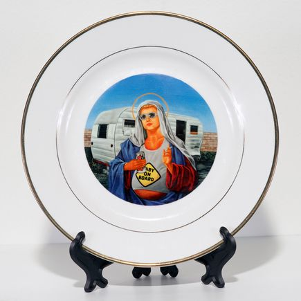 Peter Adamyan Art - Trailer Park Mary - Porcelain Plate