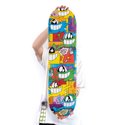 Pez Art Print - Don't Worry, I'm Happy - Skate Deck Variant