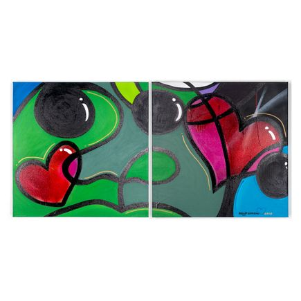 Phil Simpson Original Art - 2 Hearts - Diptych
