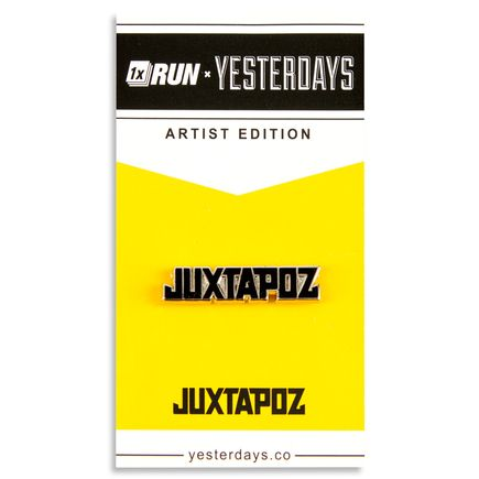 1xRUN Editions Art - Black Jutapoz Logo Yesterdays Pin