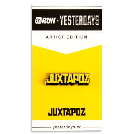 1xRUN Editions Art - Yellow Jutapoz Logo Yesterdays Pin