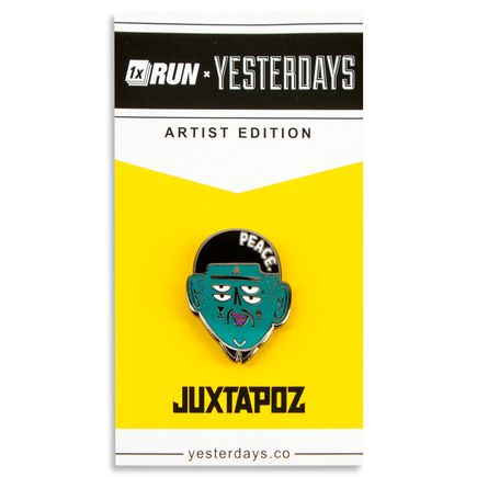 1xRUN Editions Art - Kashink Peace Yesterdays Pin
