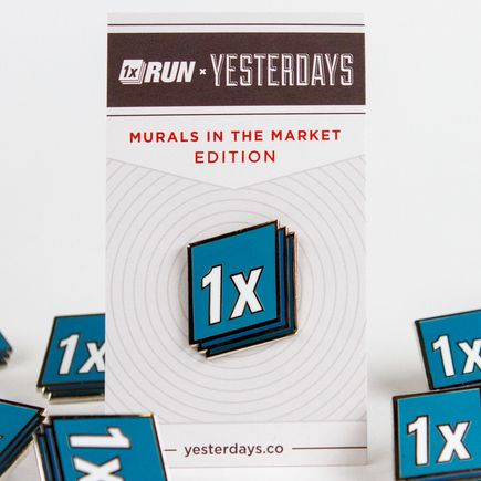 1xRUN x Yesterdays Present Art - 1xRUN Yesterdays Pin