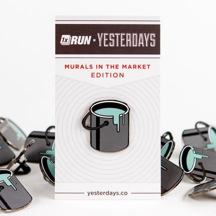 1xRUN x Yesterdays Present Art - Paint Bucket Yesterdays Pin