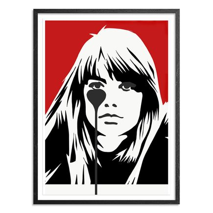Pure Evil Art Print - Françoise Hardy - Jacques Dutronc's Nightmare - Red & Black Edition