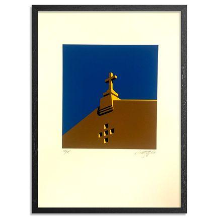 Randy Hipke Art Print - Church - Blue