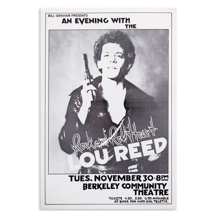 Randy Tuten Art Print - Lou Reed - Rock and Roll Heart - Berkley Community Center - November 1976