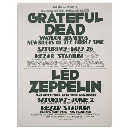 Randy Tuten Art - Dancing On The Outdoor Green: Grateful Dead and Led Zeppelin