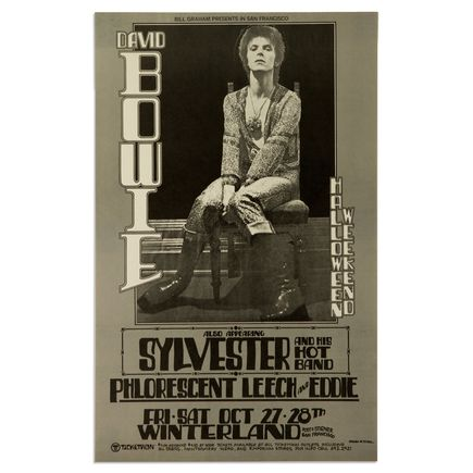 Randy Tuten Art - David Bowie at Winterland - Halloween Weekend 1973