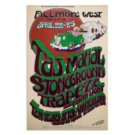 Randy Tuten x D. Bread Art Print - Taj Mahal - Fillmore West - April 1971