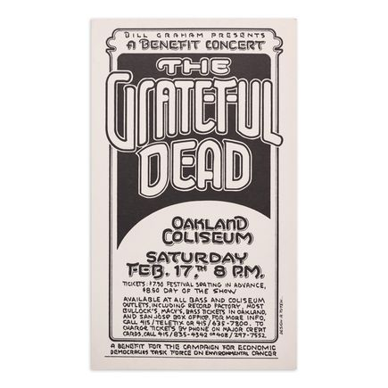 Randy Tuten Art Print - Grateful Dead - Oakland Coliseum - 1976