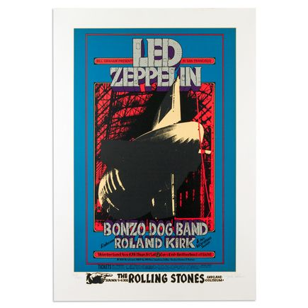 Randy Tuten Art - Led Zeppelin at Winterland - November 1968