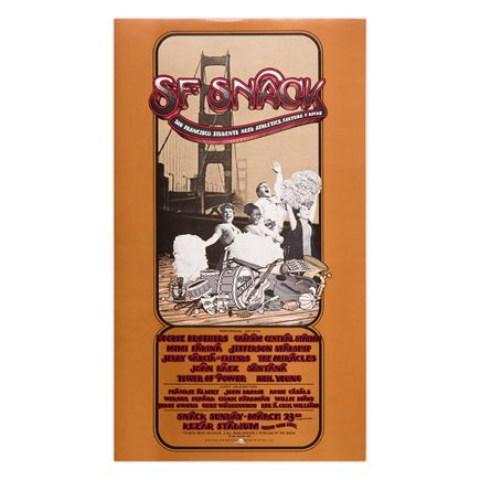 Randy Tuten Art Print - SNACK Benefit - Kezar Stadium - San Francisco - 1975