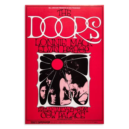 Randy Tuten Art Print - The Doors - Cow Palace - 1969 - Second Printing