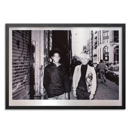 Ricky Powell Art Print - Andy Warhol & Jean-Michel Basquiat Soho. NYC. 1985 -  Aluminum Edition