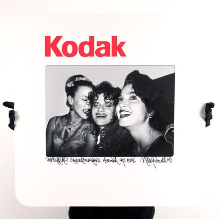 Ricky Powell Art Print - Debi Sandra Madonna. 3xDope. NYC. 1988 - 24 x 24 Inch Edition