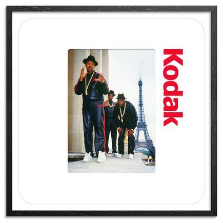 Ricky Powell Art Print - Run DMC - Paris - 1987 - 24 x 24 Inch Edition