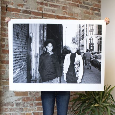 Ricky Powell Art Print - Andy Warhol & Jean-Michel Basquiat Soho. NYC. 1985 - 44 x 32 Inch Edition