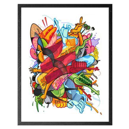 Rime Art Print - Ocean Slide - Hand-Embellished Prints