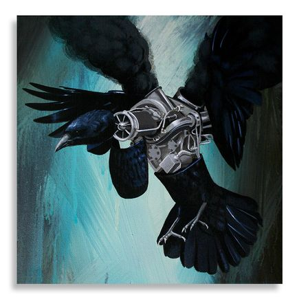 Robert Bowen Original Art - Blackbird - Original Artwork