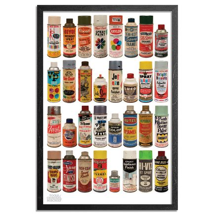 Roger Gastman Art Print - The Cans I - Original Tools of Criminal Mischief - MOCA Edition