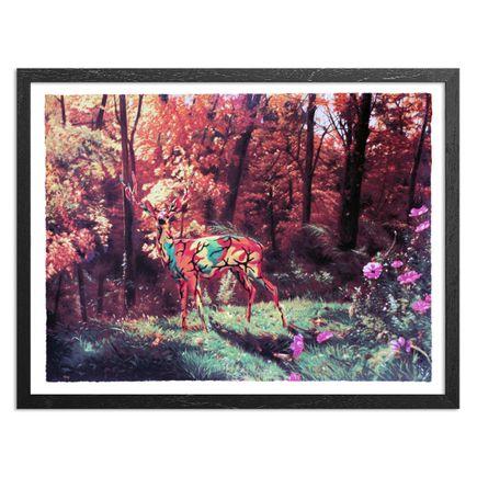 Ron English Art Print - Camo Deer In Autumn