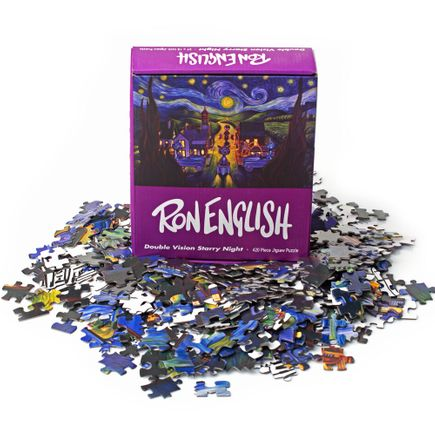 Ron English Art - Double Vision Starry Night Puzzle
