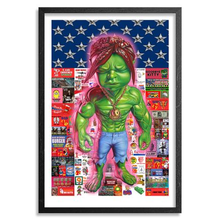 Ron English Art - Temper Pac - Framed
