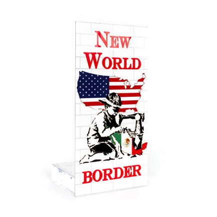 Ron English Art Print - New World Border - Welcome Wall