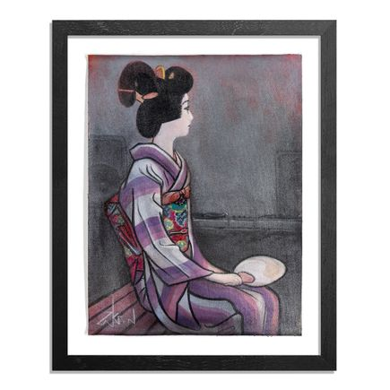Ron Zakrin Original Art - Geisha with Turntables