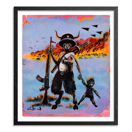Ron Zakrin Original Art - Over The Wall - Yellow/Blue Variant - Original Artwork
