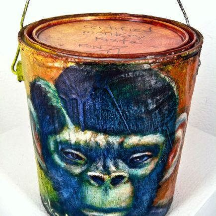 Ron Zakrin Original Art - Certified Monkey Paste