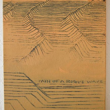 Ron Zakrin Original Art - Path of a Rogue Wave