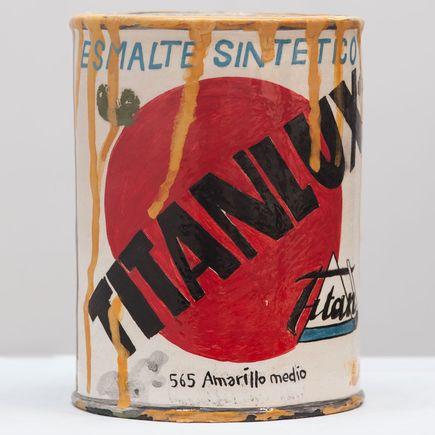 Rorro Berjano Original Art - Titan Addiction Ocre
