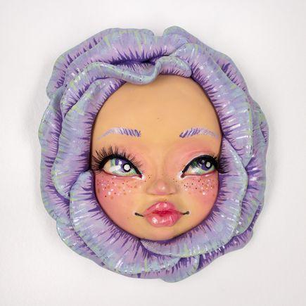 Rudy Fig Original Art - Wall Flower - Purple