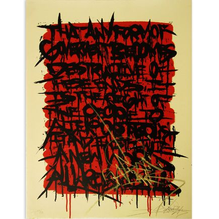 Saber Original Art - Declaration - Red