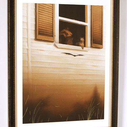 Sam Wolfe Connelly Art Print - Gaze with Custom Frame
