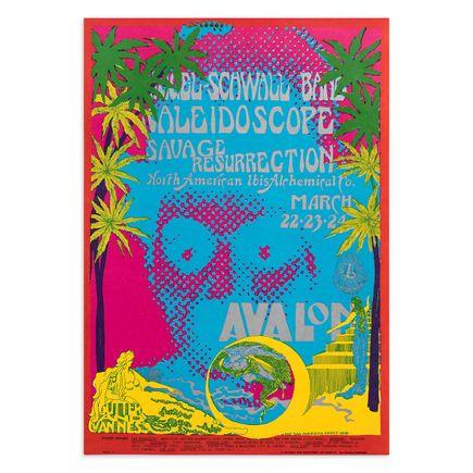 San Andreas Fault Art Print - Siegel-Schwall Band - Kaleidoscope - Avalon Ballroom - 1968