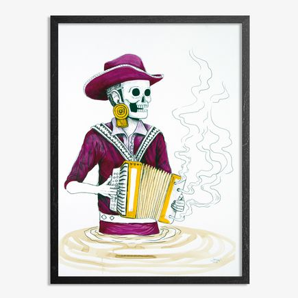 Saner Art - El Norteno Playing The Accordion - Mask Edition 08