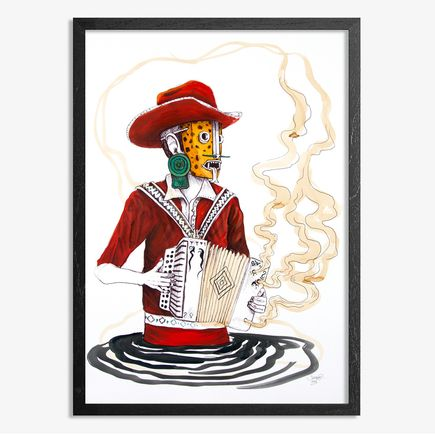 Saner Hand-painted Multiple - El Norteno Playing The Accordion - Hand Painted Multiple 01