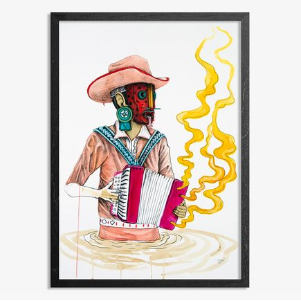 Saner Hand-painted Multiple - El Norteno Playing The Accordion - Hand Painted Multiple 03