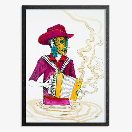 Saner Hand-painted Multiple - El Norteno Playing The Accordion - Hand Painted Multiple 04