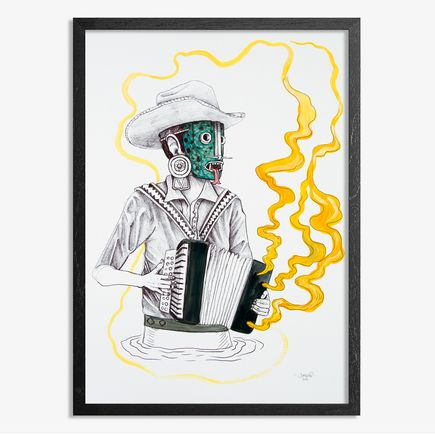 Saner Hand-painted Multiple - El Norteno Playing The Accordion - Hand Painted Multiple 05