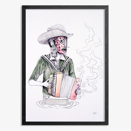 Saner Hand-painted Multiple - El Norteno Playing The Accordion - Hand Painted Multiple 09