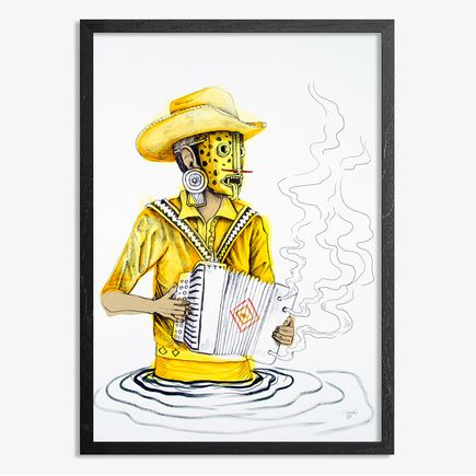 Saner Hand-painted Multiple - El Norteno Playing The Accordion - Hand Painted Multiple 06