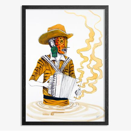 Saner Hand-painted Multiple - El Norteno Playing The Accordion - Hand Painted Multiple 07